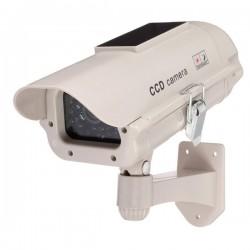Falsk overvåkningskamera med solcellepanel