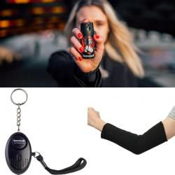 Sikkerhetspakke - Forsvarsspray, overfallsalarm og underarmsbeskyttelse