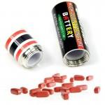 Skjult oppbevaring i batteri