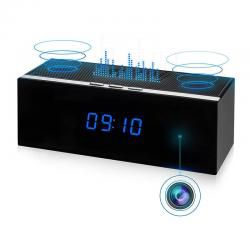 WiFi spionkamera i bluetooth høyttaler/bordklokke