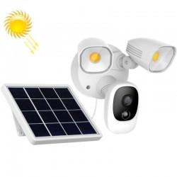 Trådløst utekamera med lyskaster og solcellepanel