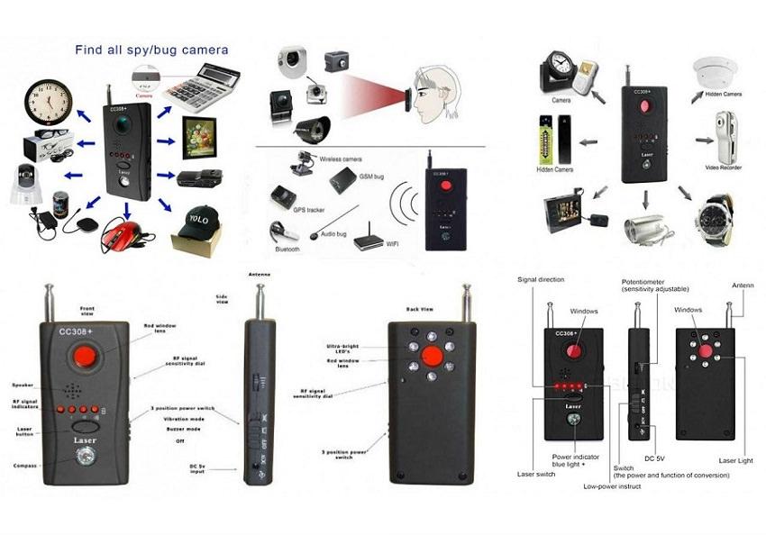 Detektor spionkamera avlytter