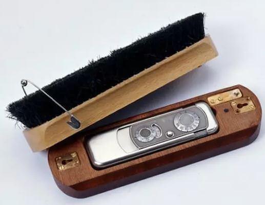 spionkamera i børste