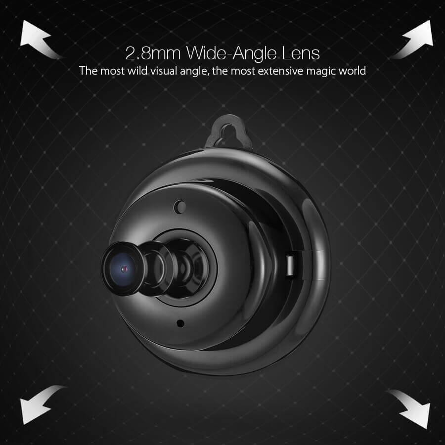 IP mini overvåkningskamera med bred vidvinkel