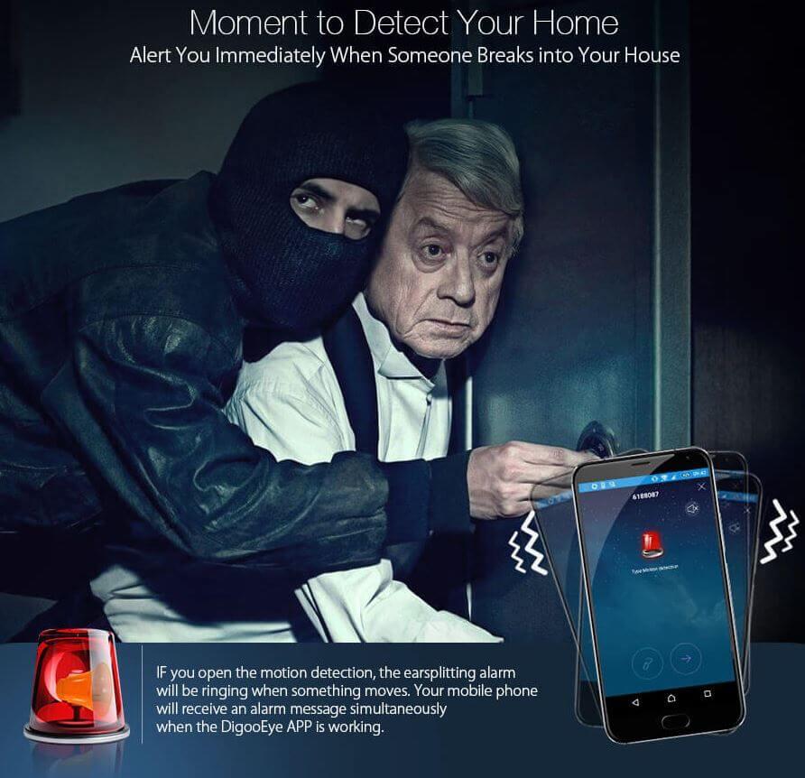 IP mini overvåkningskamera mot innbrudd