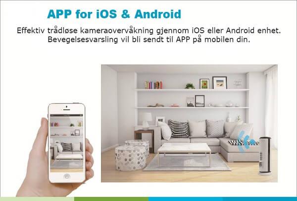 3G GSM og WiFi overvåkningskamera kompatibel med iOS og Android enheter