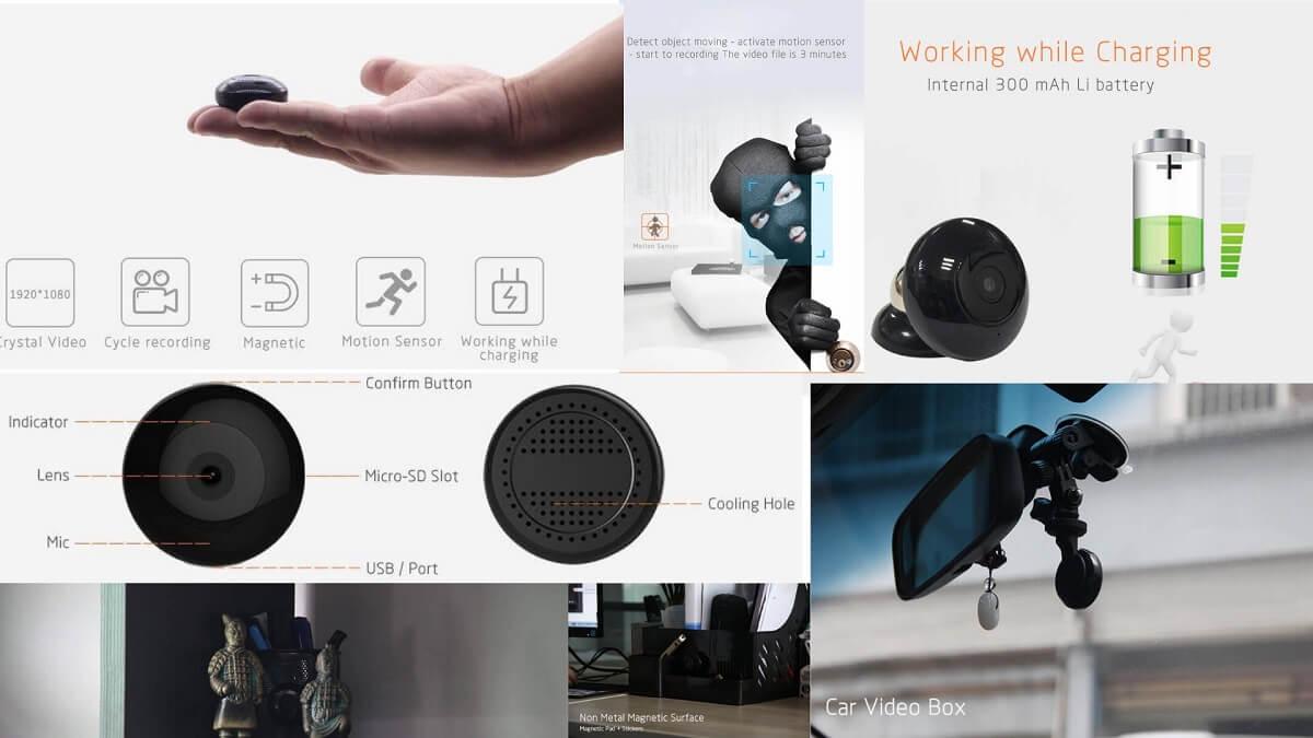Minikamera med bevegelsesaktivering