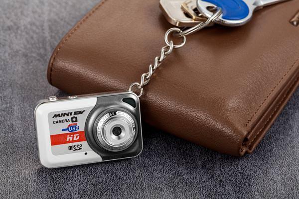 Minikamera nøkkelring med bevegelsesdetektor