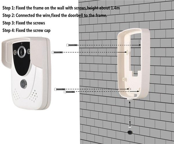 Ringeklokke med trådløst WiFi kamera