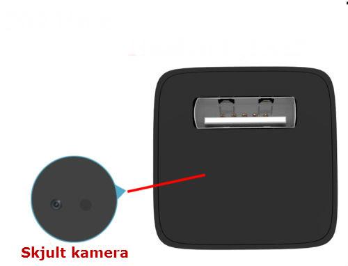 Skjult kamera i USB lader