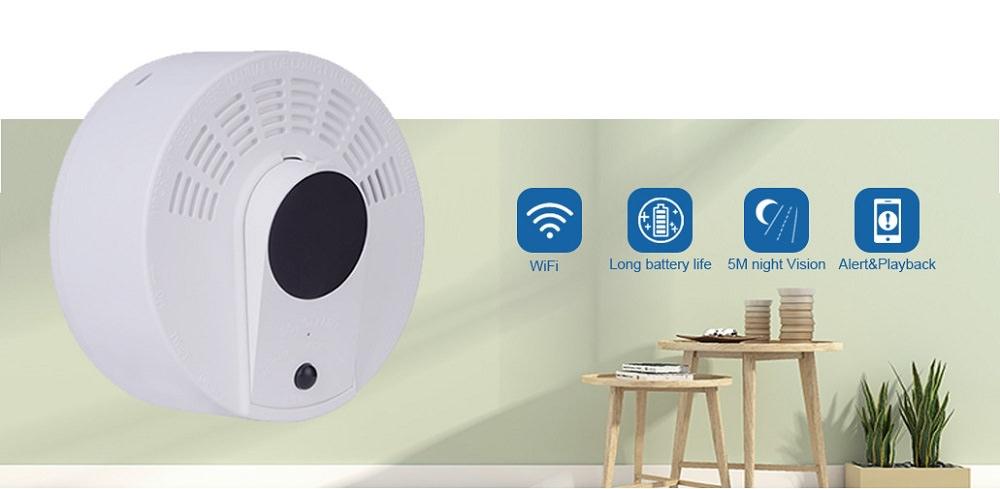 Skjult WiFi kamera i røykvarsler