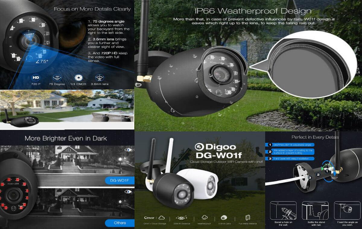 Utendørs IP-kamera med nattsyn