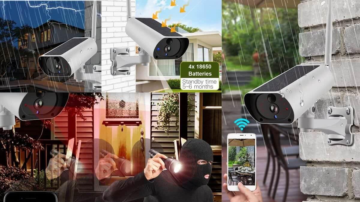 Solcelledrevet utendørs IP-kamera med nattsyn