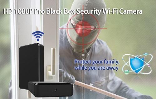Wi-Fi HD spionkamera svart boks